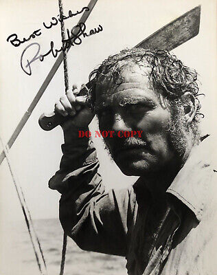 Robert Shaw Jaws Autograph Signed 8x10 Photo reprint