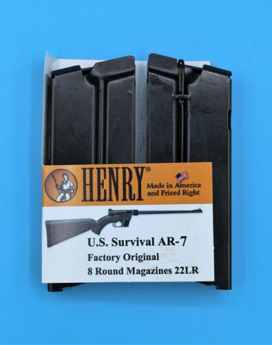 Henry 22 US Survival Rifle Magazine .22 LR 8-Round RD Clip Mag Two Pack 2-Pack