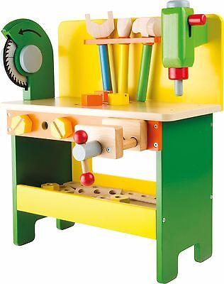 Werkbank Christian Holz Werkzeug Klopfbank Kinderwerkbank Spielzeug für Kinder
