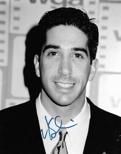 """David Schwimmer """"Friends"""" Autogramm signed 20x25 cm Bild s/w"""