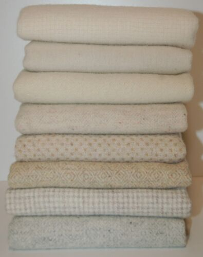 """HAND DYED RUG HOOKING WOOL Mill-Dyed ~ """"SNOW DAYS"""" (8-pc. combo)"""
