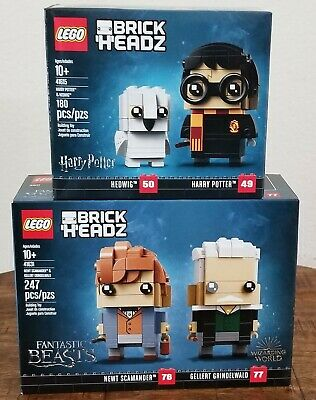 Lego Harry Potter BRICKHEADZ SET Hedwig Newt Scamander 41615 41631 New in Box
