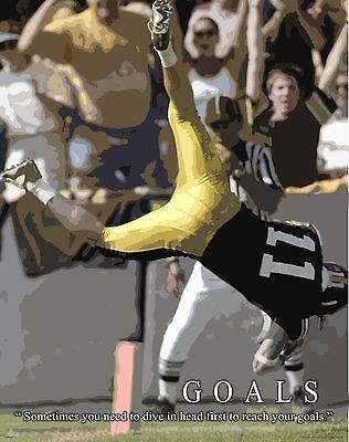 Football Motivational Poster Art Print Youth Pee Wee Classroom Sports   MVP421