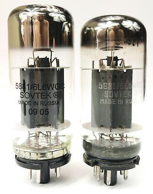 Sovtek 5881WXT / 6L6WGC Power Vacuum Tubes Matched Pair