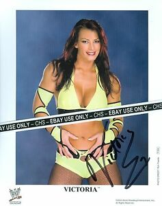 VICTORIA-SEXY-SIGNED-COLOR-8x10-PHOTO-WWE-DIVA-HUGE-BOOBS