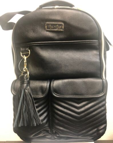 Itzy Ritzy Boss Baby Diaper Bag Backpack Changing Pad Jetsetter Black NEW