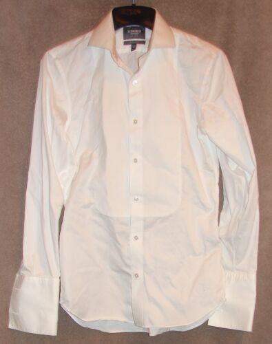 NWOT White Tailored Slim Fit Pique Bib Tuxedo Shirt from Bonobos, Size 15.5 - 34