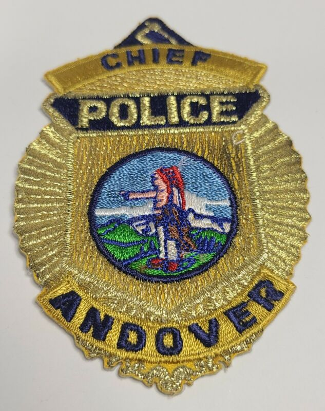 Andover Police CHEIF Patch, Andover, Massachusetts RARE