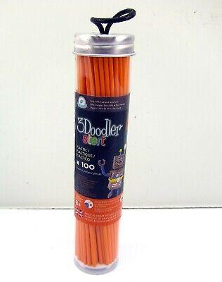 NEW 3D Doodler Plastic Refills 100 Piece 3Doodler Orange Color Printing Filament