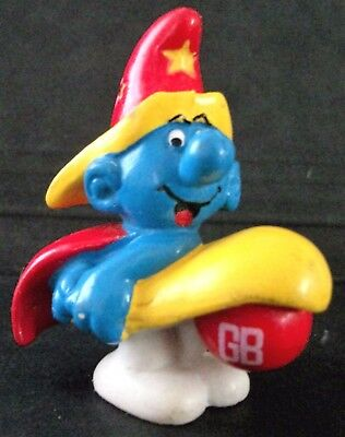 pe & ballon rouge GB -SMURF with red ball GB - SCHLUMPF -  (Red Ballon Spielzeug)