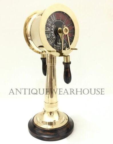 Solid Brass Ship Telegraph Vintage Marine Style Engine Room Telegraph Decorative