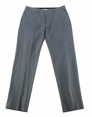 Lauren by Ralph Lauren Mens Pants Gray 33X32 Dress - Flat Front Stretch $50 #207 Grey Polyester Mens Dress Pants