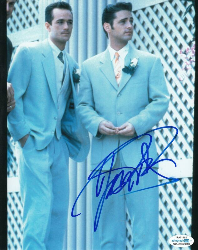 JASON PRIESTLEY signed (BEVERLY HILLS 90210) 8X10 photo Brandon BH90210 ACOA #1