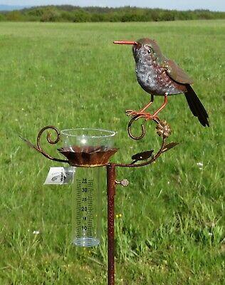 Regenmesser Vogel Niederschlagsmesser Beetstecker Landhaus Gartendeko 18618