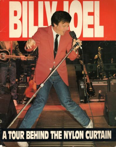 BILLY JOEL 1982 NYLON CURTAIN TOUR CONCERT PROGRAM BOOK-VERY GOOD TO EXCELLENT