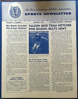 1966 Air Force Academy Sports Newsletter January Issue
