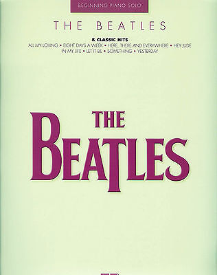 THE BEATLES - BEGINNERS EASY PIANO SOLOS MUSIC BOOK on Rummage