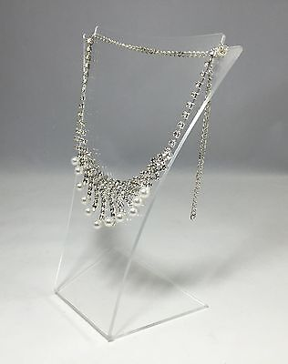 Clear Acrylic Plexiglass Necklace Jewelry Stand Countertop Display 11620-19