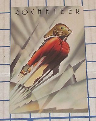The Rocketeer Limited Edition Preview Poster Art Button Offer Postcard Mint