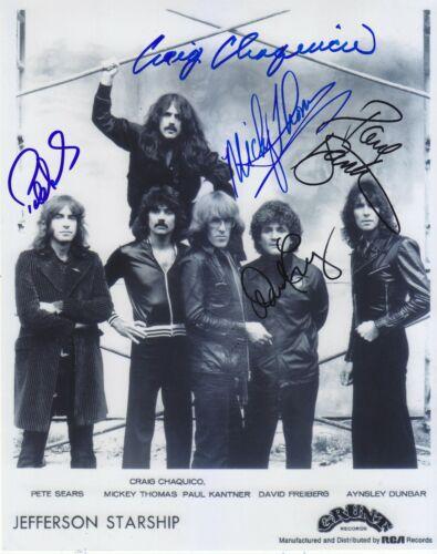 Jefferson Starship  photo signed by 5 Paul Kantner, Mickey Thomas, David Proof