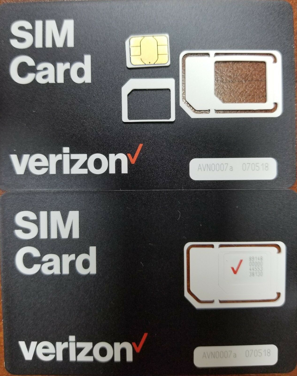 как выглядит VERIZON NANO SIM CARD  NEW 4FF 4G LTE Fits all phones Prepaid/Contract 3 IN 1 фото