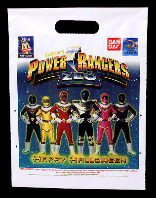Vintage Mighty Morphin Power Rangers Zeo McDonald's Halloween Trick or Treat Bag (Power Ranger Halloween)