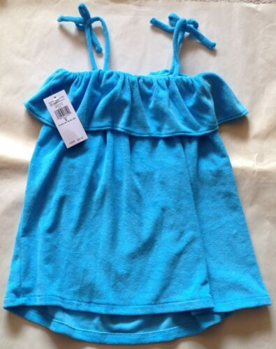 NWT RALPH LAUREN GIRLS 1 PC BATHING SUIT BLUE COVER UP SIZE 5 $45