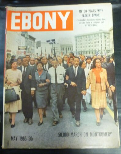 Vintage Ebony Magazine May 1965 MLK March on Montgomery Alabama (1st March)