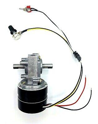 Reversible Variable Speed 25 Rpm 24v Brushless Dc Dual-shaft Gear Motor 2.6 N-m