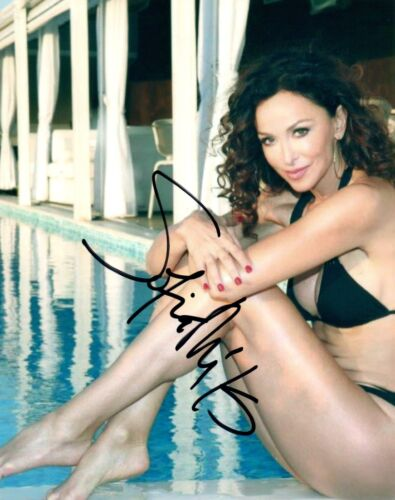Sofia Milos Signed Autograph 8x10 Photo Sexy CSI MIAMI Actress Bikini Pose COA