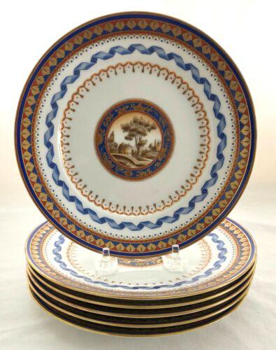 "A Truly Rare Set /10 Richard Ginori Villa Borghese 7.75""Porcelain Salad Plates"