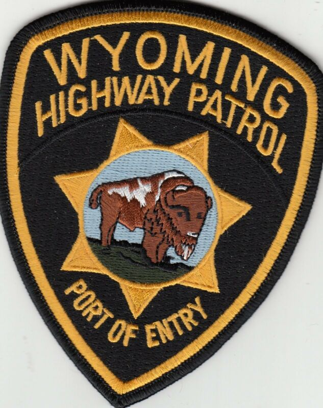 WYOMING HIGHWAY PATROL PORT OF ENTRY POLICE PATCH WY