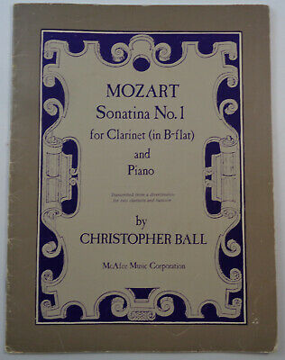 Mozart Sonatina No. 1 for clarinet in B flat and piano, by Christopher Ball