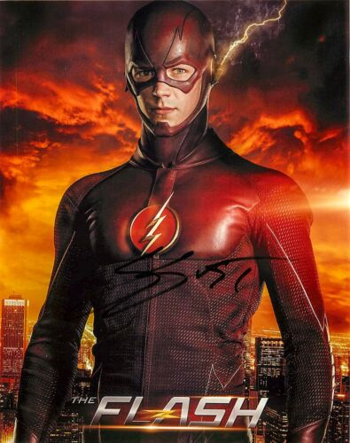 Grant Gustin Signed 'THE FLASH - Barry Allen' 8x10 Photo PROOF COA B