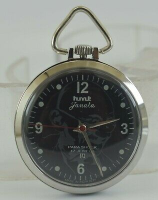 Vintage HMT Janata 17J Winding Pocket Watch For Unisex Use Working Good D-2-13