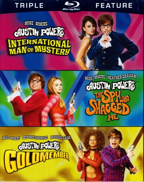 AUSTIN POWERS TRIPLE BLU RAY 3 DISCS MIKE MYERS ELIZABETH HURLEY BEYONCE
