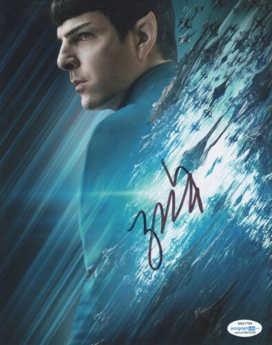 Zachary Quinto Star Trek Autographed Signed 8x10 Photo ACOA 2020-1