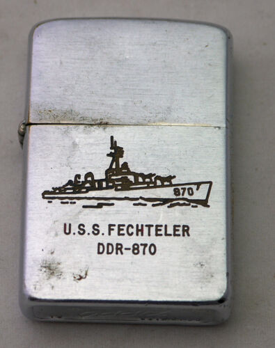Zippo Lighter USS Fechteler DDR-870 Vintage