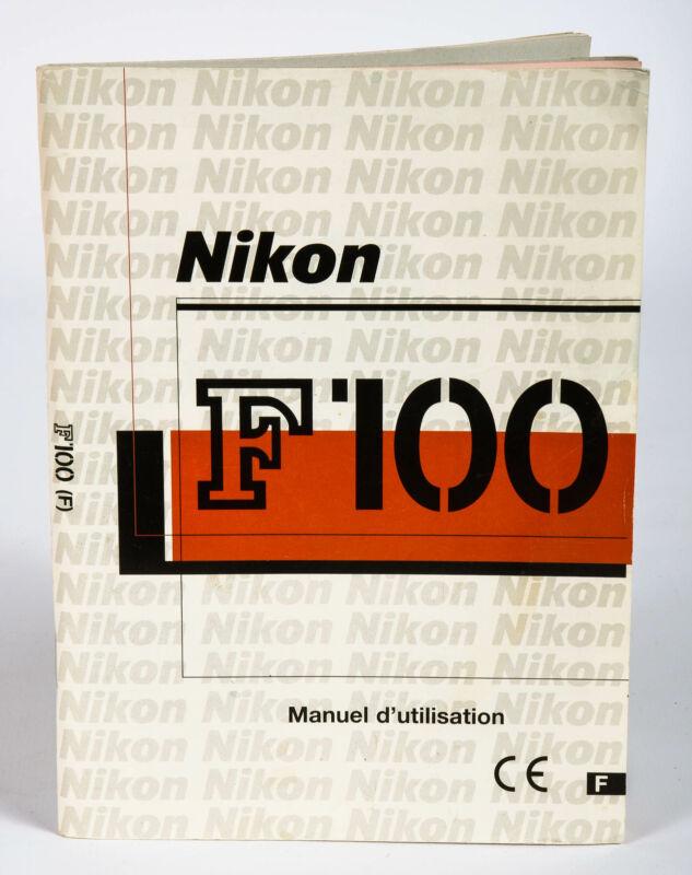 Nikon F100 SLR Camera User