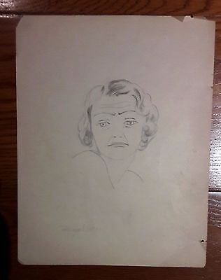 DIEGO RIVERA PENCIL ORIGINAL GRAPHITE ON PAPER DRAWING SIGNED