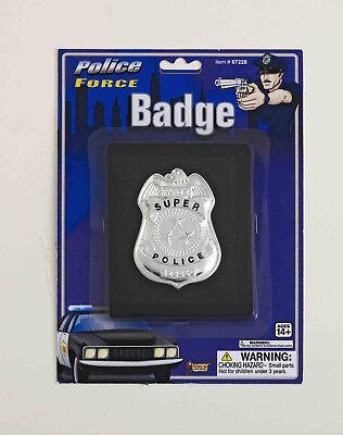 DELUXE POLICE BADGE ON WALLET OFFICER COP DETECTIVE HALLOWEEN COSTUME ACCESSORY ](Cop Badge Halloween)