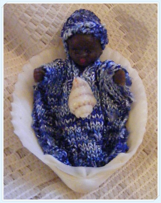 BABY YEMAYA POCKET DOLL - Original Creation, Orishas, Santeria