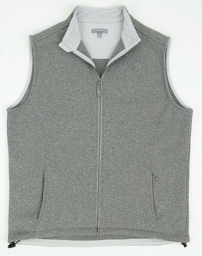 Men's Peter Millar Warmth Melbourne Sweater Fleece Vest Gray Heather Size LARGE