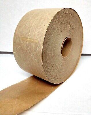 2.75 X 375 Ft Reinforced Kraft Gummed Paper Tape Brown 70mm Wide 3 450
