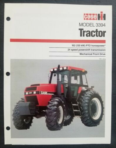 Case - IH Model 3394 Tractor Dealer Sales Spec Sheet Brochure