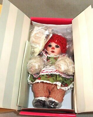 """8"""" CHRISTMAS MORNING - RAG A MUFFIN Doll Marie Osmond Tiny Tots Vintage 2007"""