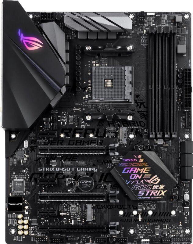 ASUS - ROG Strix B450-F Gaming (Socket AM4) USB 3.1 Gen 2 AMD Motherboard wit...
