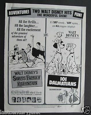 Walt Disney's 101 Dalmatians  Press Book Publicity Release For 1972