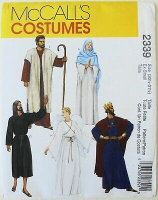 McCalls 2339 Jesus Mary The Apostles Nativity Angel Costume Sewing Pattern Sz XS](Mary Nativity Costume)