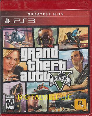 Grand Theft Auto V PS3 Brand New Factory Sealed GTA 5